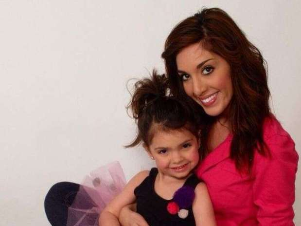 'Teen Mom' star Farrah Abraham with her four-year-old daughter, Sophia. Foto: Twitter/Farrah Abraham