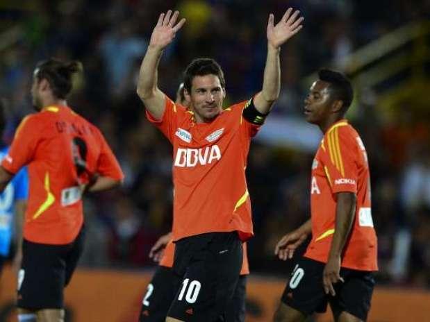 Messi visitará Colombia nuevamente para un juego amistoso con varias estrellas del futbol mundial Foto: AFP