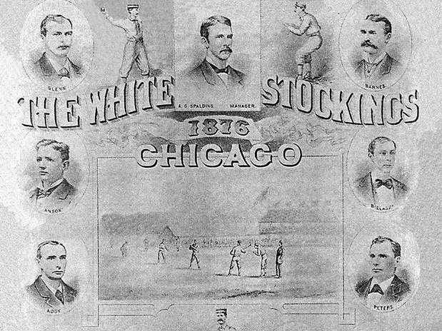 Chicago White Stockings son los antecesores de los dos equipos de beisbol de Chicago, los Cachorros en 1876 y los Medias Blancas en 1900. Foto: Divulgación Internet