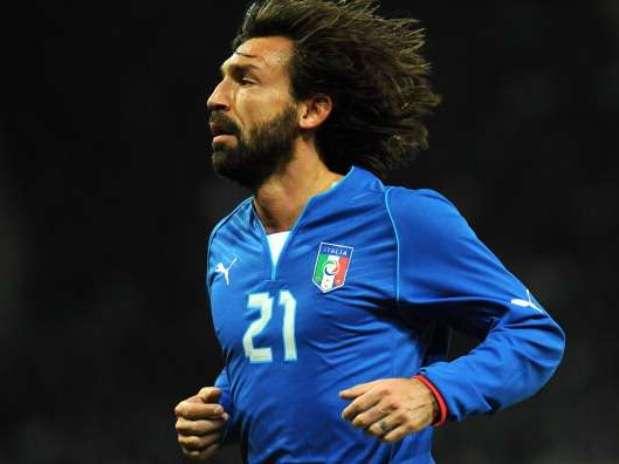 Andrea Pirlo, con la camiseta de Italia Foto: Getty Images