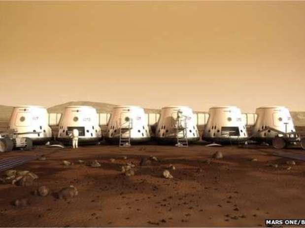 Así sería la vida de los humanos en Marte, según la empresa Mars One. Foto: Terra Perú
