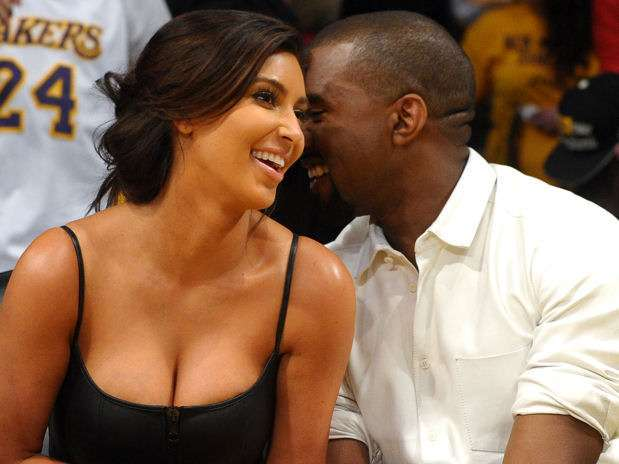 Kim Kardashian y Kanye West. Foto: Getty Images