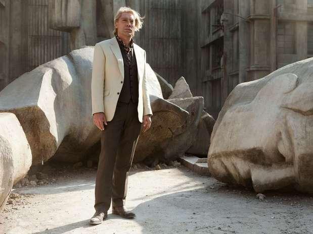 Javier Bardem como el villano Raoul Silva en una escena de Skyfall, en Gunkanjima Foto: Reproducción