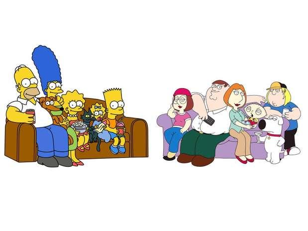 El episodio especial que reúne a 'Los Simpson' y los protagonistas de'Family Guy' se transmitirá en el otoño de 2014. Foto: FOX