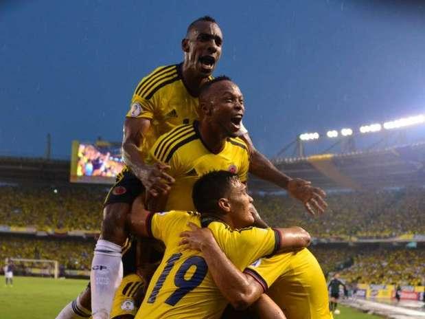 Colombia venció 1-0 a Ecuador y aseguró un lugar en el repechaje rumbo a Brasil 2014. Foto: AFP