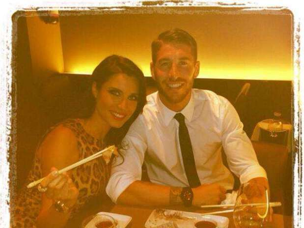 La foto que colgó Sergio Ramos cenando en un restaurante japonés Foto: Twitter