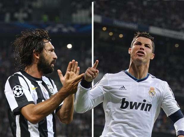 Andrea Pirlo y Cristiano Ronaldo, dos figuras mundiales que chocarán en el Santiago Bernabéu Foto: Getty Images