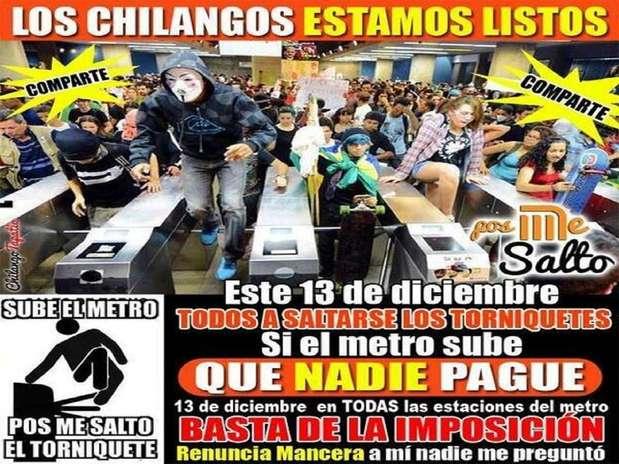 Con el hashtag #PosMeSalto, los usuarios señalaron que no van a pagar la nueva tarifa de 5 pesos por viaje anunciada por el director del STC Metro. Foto: Tomada de Twitter
