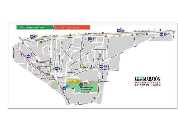 Ruta del Maratón Metepec 2014. Foto: Cortesía Meta Sports