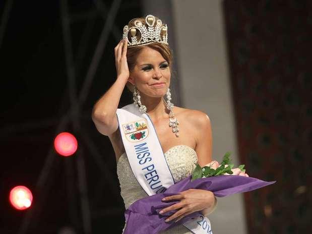 Jimena Espinoza se coronó como la Miss Perú Universo 2014. Foto: Miguel Bustamante / Terra Perú