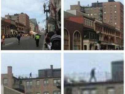 Las imágenes muestran al presunto sospechoso en la azotea de un edificio. Foto: Reproducción