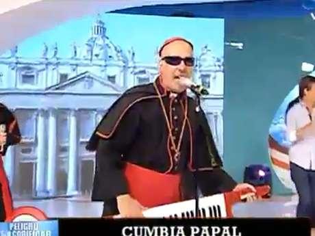 """La Cumbia papal fue presentada en el programa argentino """"Peligro sin codificar"""". Foto: Reproducción"""