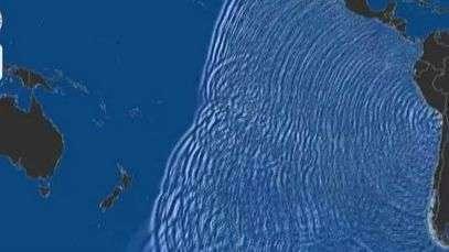 Animación digital muestra llegada del tsunami en el resto del mundo