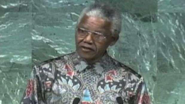 Vídeo reúne discursos históricos de Mandela na ONU