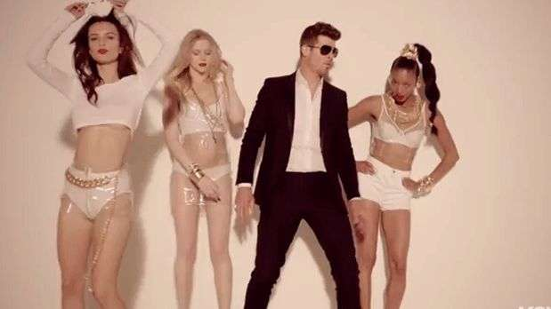 ... the video SO SEXY: Robin Thicke feat. T.I. & Pharrell, 'Blurred lines