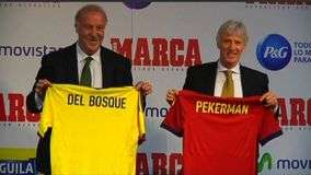 Del Bosque y Pekerman analizan a Espa&#241;a y Colombia