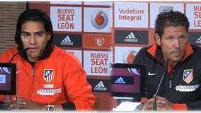 Falcao y Simeone hablan sobre la final de la Copa del Rey
