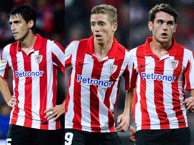 Iraola, Muniain e Ibai, jugadores del Athletic Foto: Getty Images